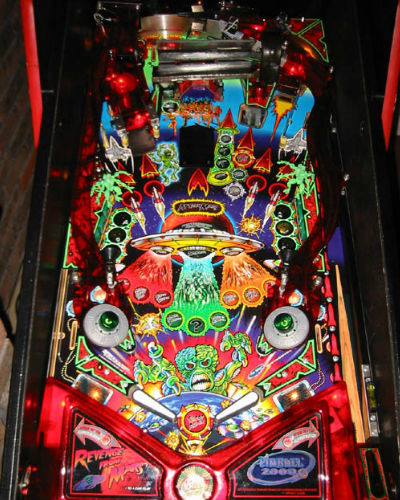 REVENGE FROM MARS PINBALL PLAYFIELD AT JOYSTIX