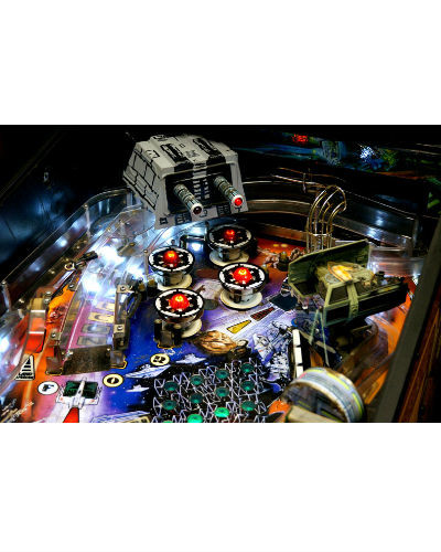 STAR WARS TRILOGY PINBALL PLAYFIELD AT JOYSTIX
