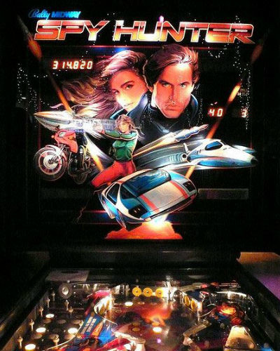 Spy hunter pinball at joystix