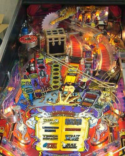 THEATRE OF MAGIC PINBALL PLAYFIELD AT JOYSTIX