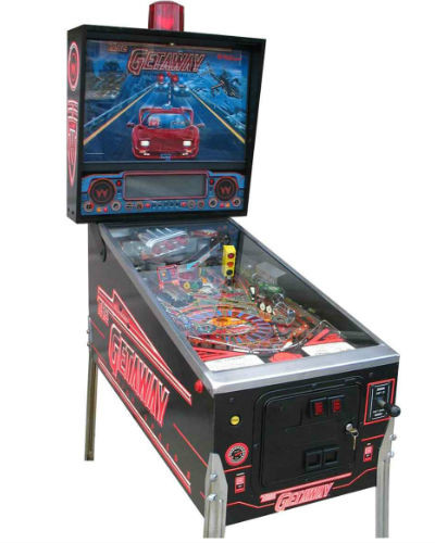 The Getaway pinball at joystix