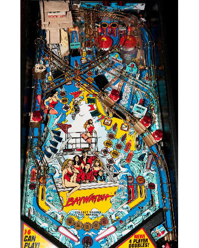 baywatch pinball playfield at joystix