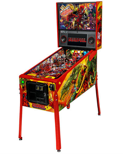 deadpool limited edition pinball cabinet at joystix