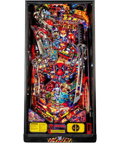 deadpool pro pinball playfield at joystix