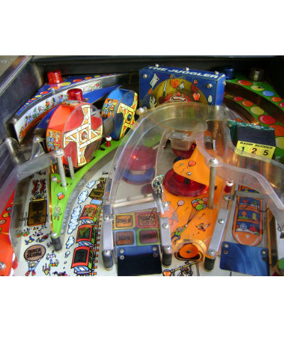 hurricane pinball playfield at joystix