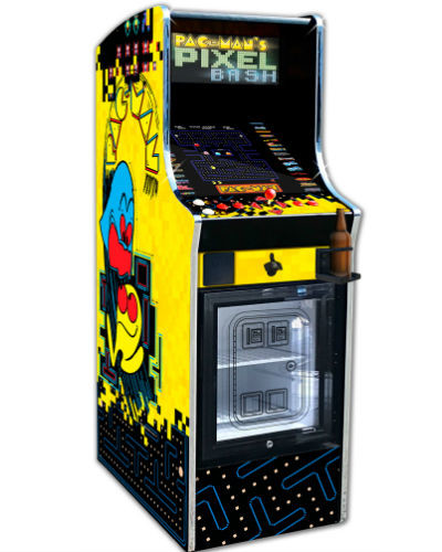 pac man's pixel bash chill cab at joystix