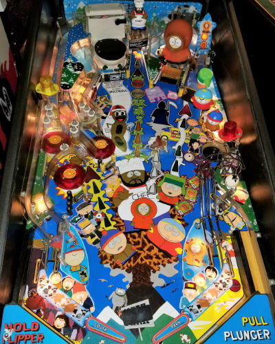 south park pinball playfield 2 at joystix