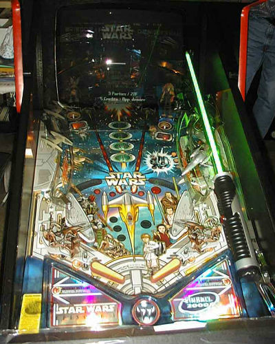 star wars episode 1 pinball playfield at joystix