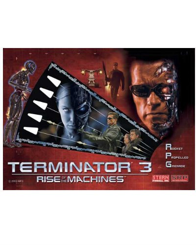 terminator 3 pinball backglass at joystix