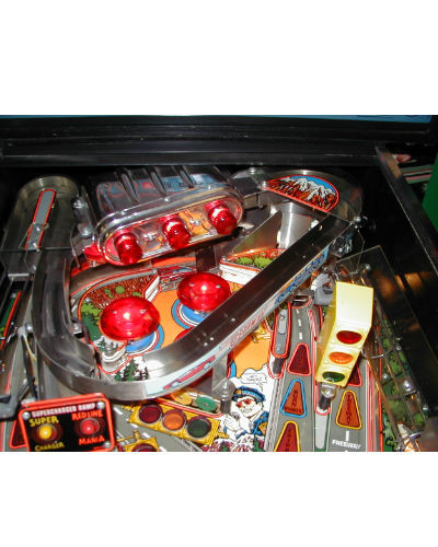 the getaway pinball playfield at joystix