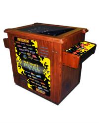 pac man's pixel bash woodgrain cocktail at joystix