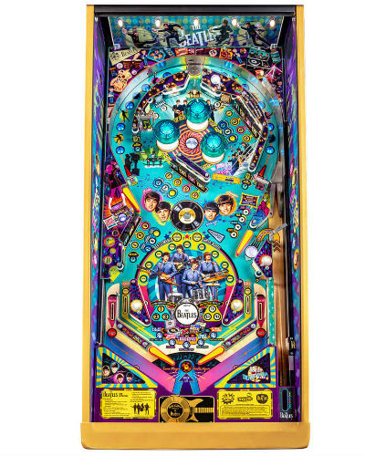 THE BEATLES PINBALL PLAYFIELD AT JOYSTIX