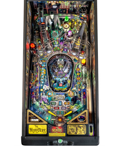 munsters le pinball playfield at joystix